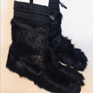 PRADA genuine fur boots